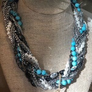 Turquoise torsade necklace